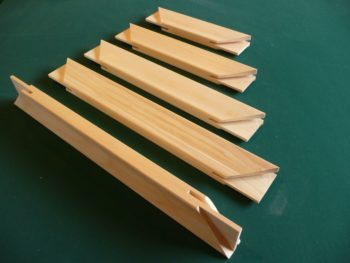 Basic stretcher bars for artists canvases