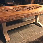 CARVED WOOD TABLE