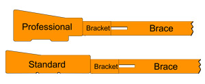 Comparing Brackets Professional and Standard Bar