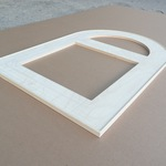 Custom arched frame