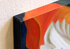 Example of a gallery wrapped canvas edge