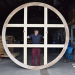 Large round and shaped canvas supports