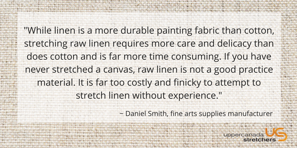 Cotton VS  Linen: Which Canvas Is Best & Why