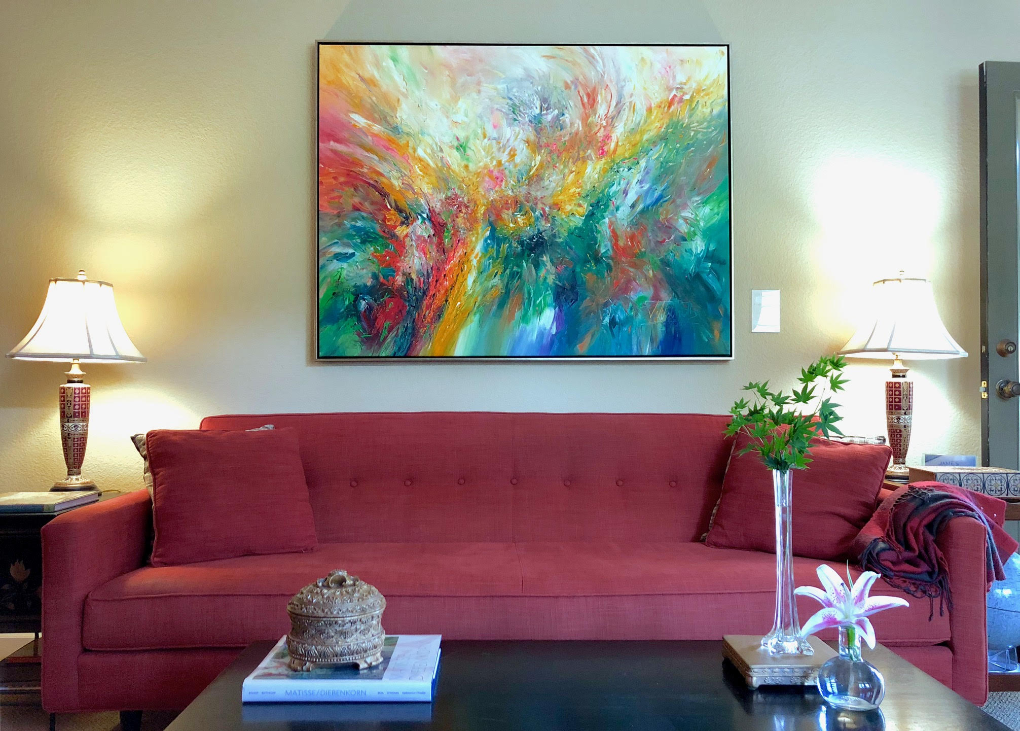 Use a floater frame, or floating frame, to showcase fine art affordably.